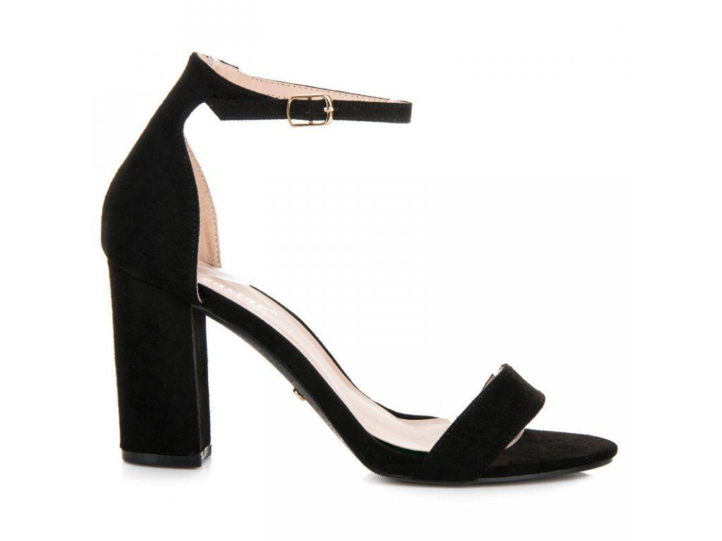 824661f35f2f Čierne sandále so zapínaním na sponu Seastar