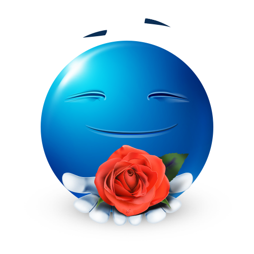Smiley Offering a Rose Smiley, Happy smiley face, Emoji