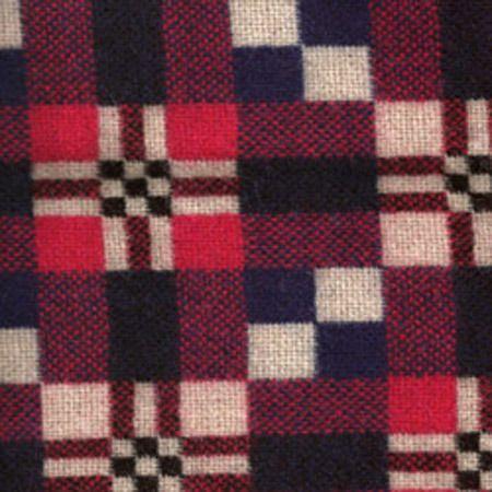 Welsh blanket by Merlin Tregwynt - St-Davids Cross in Flag Back