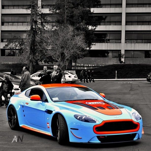 Gulf Coloured 2012 Aston Martin Vantage V12