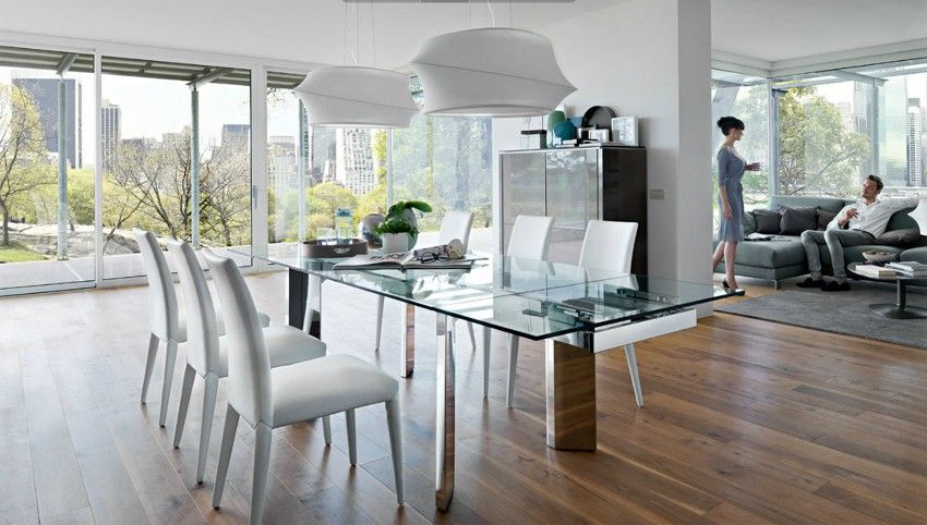Cs 4057 R Tower Dining Table Calligaris Italy Large Dining Room