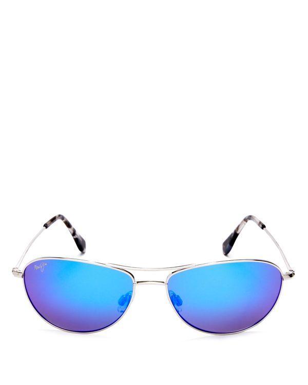 1c73edacfa90 Maui Jim Mirrored Baby Beach Sunglasses