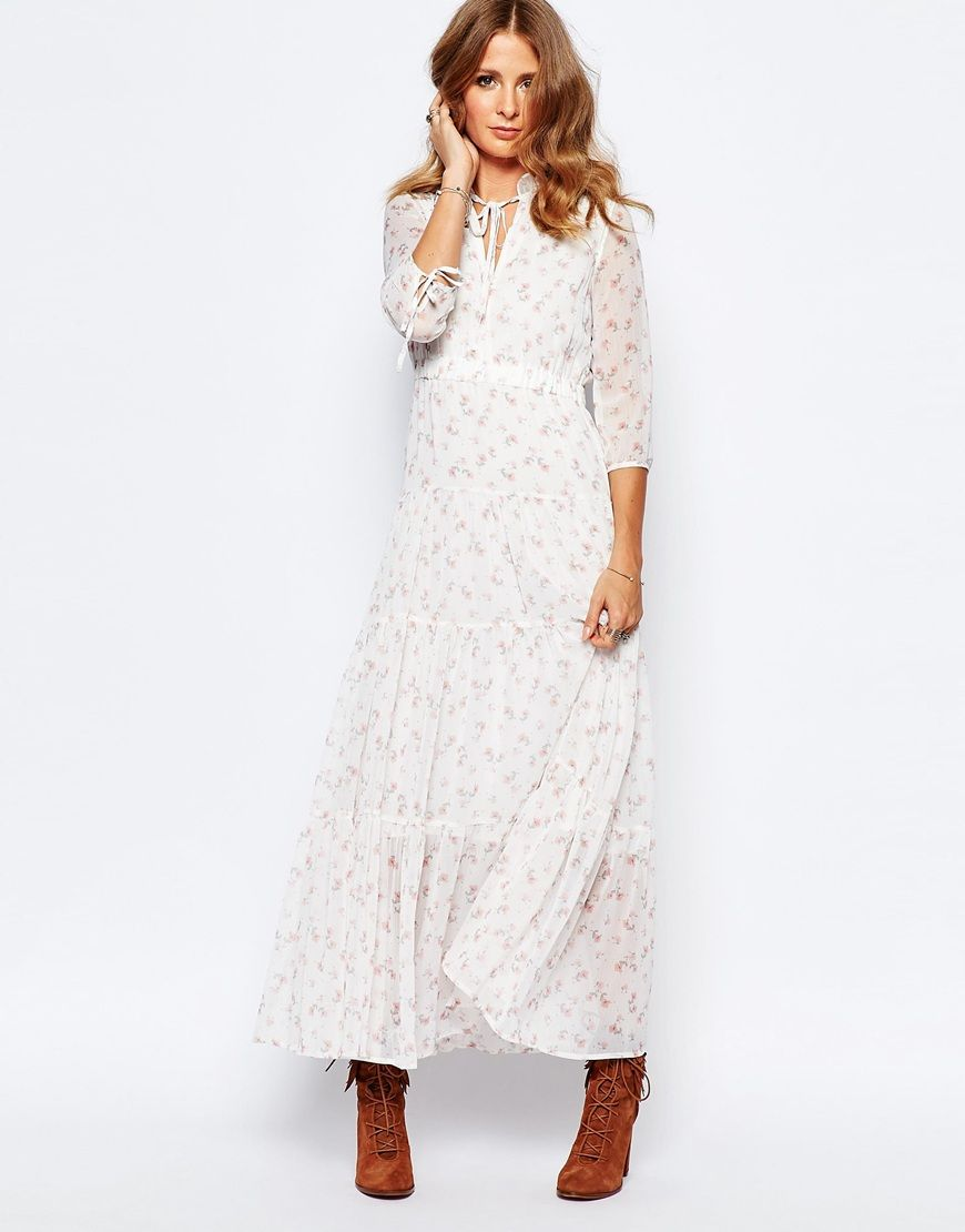 Image 1 of Millie Mackintosh Victoriana Ditsy Print Maxi Dress ...
