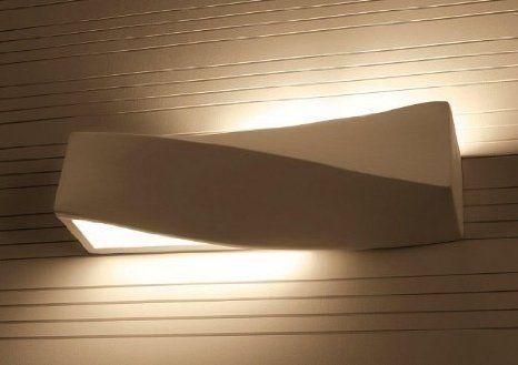 Gips Wandleuchte Design Wandlampe Gips Bemalbar Mit Schonen Lichteffekten Amazon De Beleuchtung Wandlampe Moderne Lampen Wandleuchte