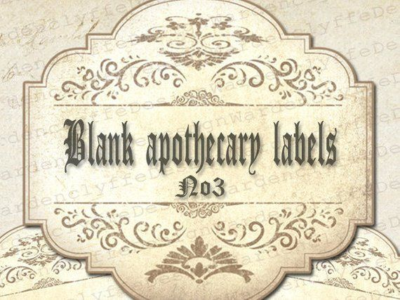 image about Harry Potter Apothecary Labels Free Printable named Printable Blank Apothecary Labels No3,(3,5\