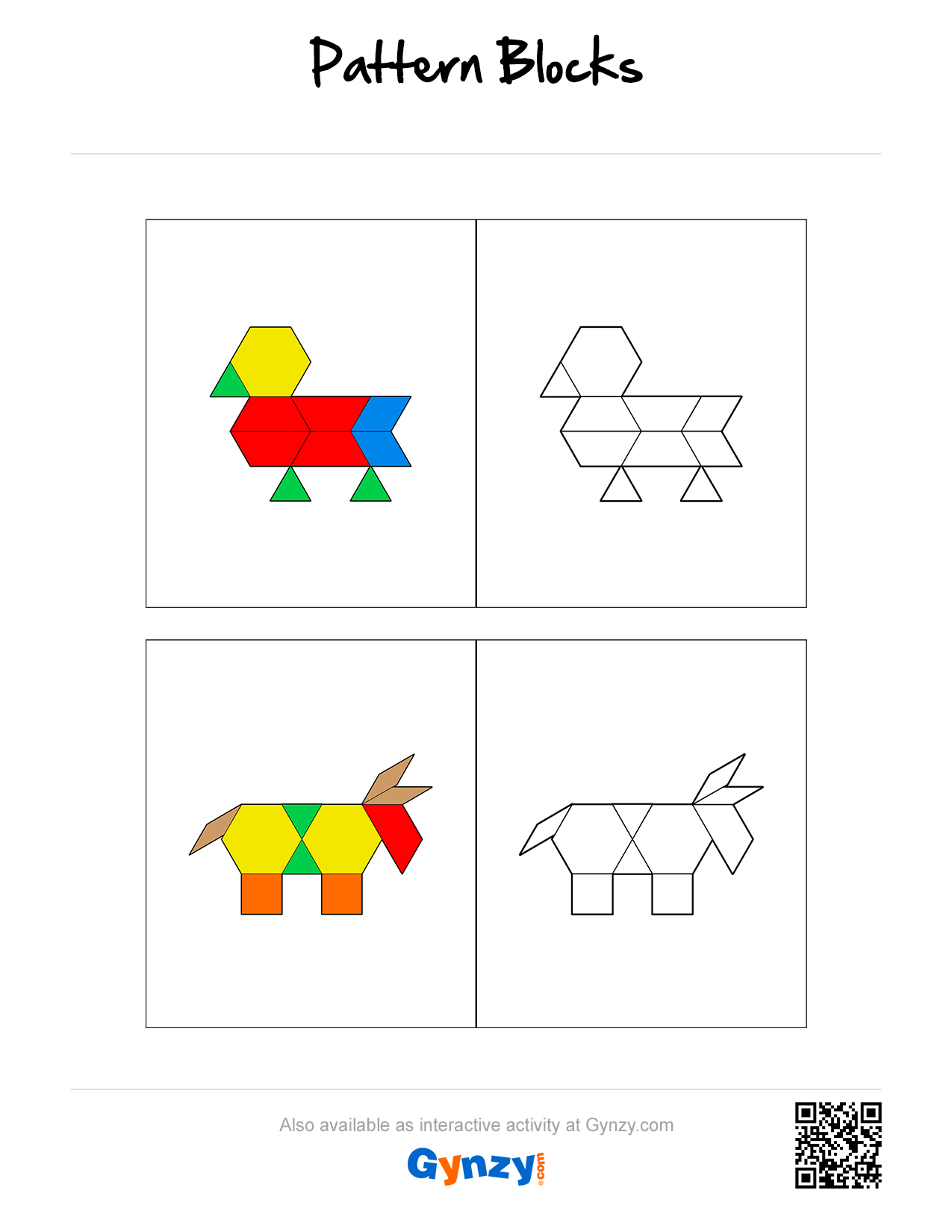 Pattern Blocks Mosaic Build Patterns Create And Solve