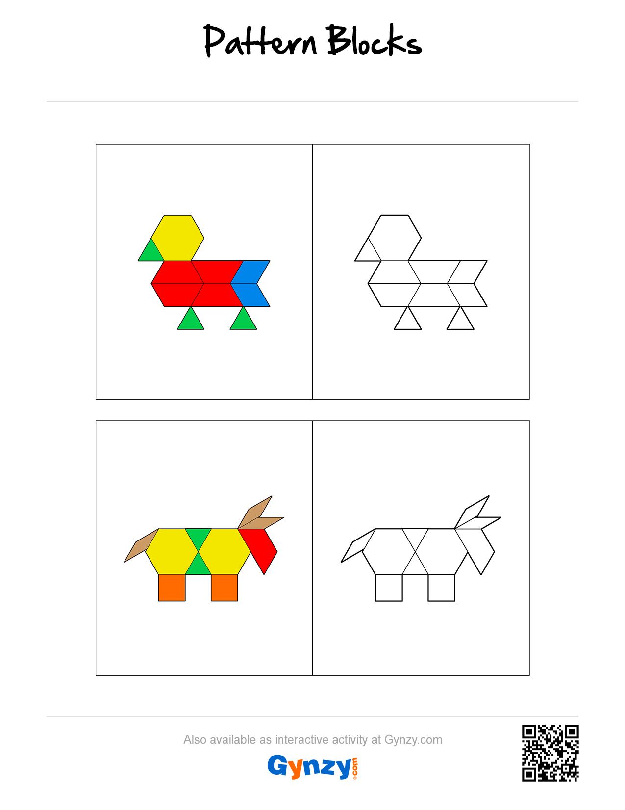 Pattern Blocks Mosaic Build Patterns Create And Solve