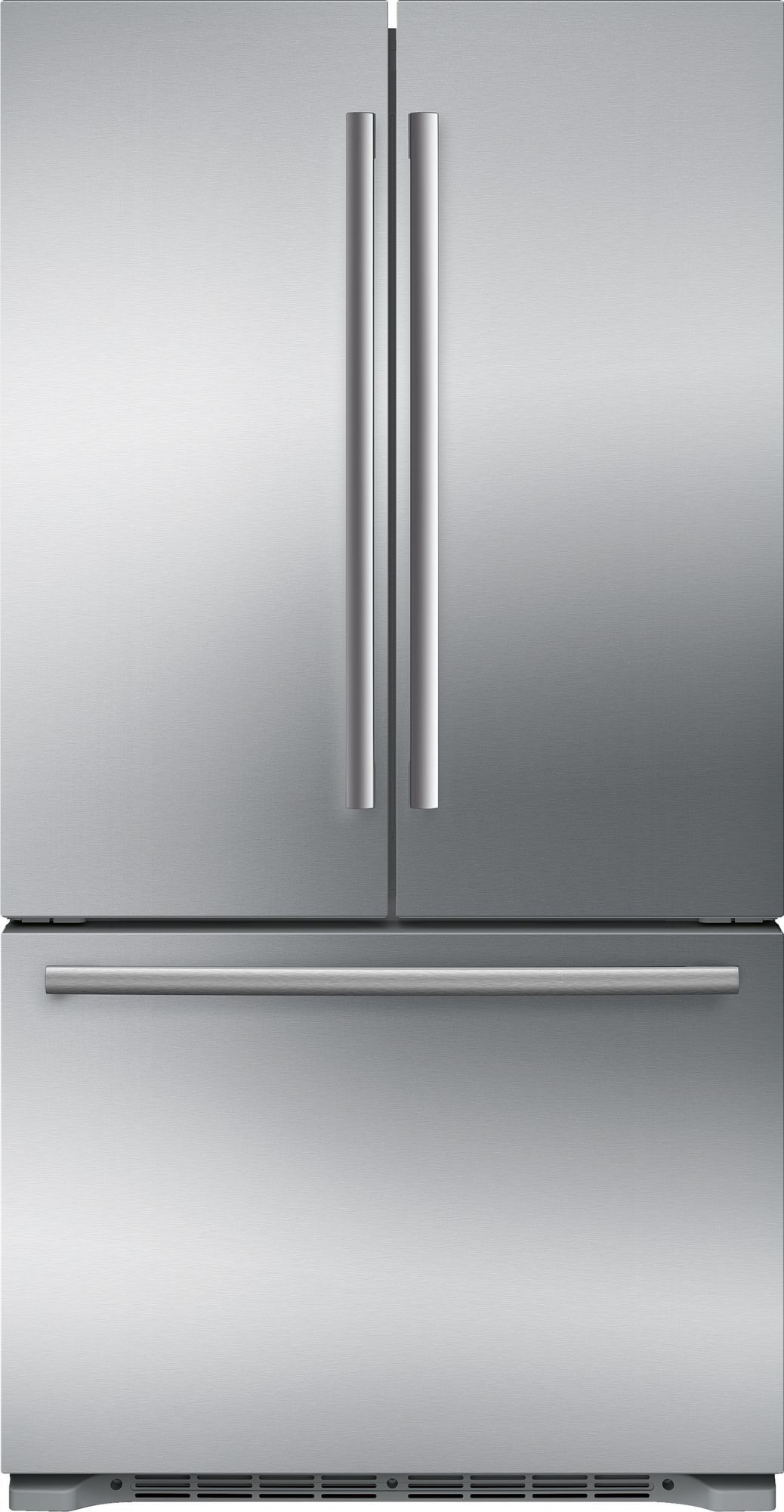 Bosch B21ct80sns 36 Inch Counter Depth French Door Refrigerator With Filtered Automatic Ice Maker Retractable Half Shelf Full Width Chiller Drawer Dual Airco Counter Depth Refrigerator Stainless Refrigerator Counter Depth French Door Refrigerator