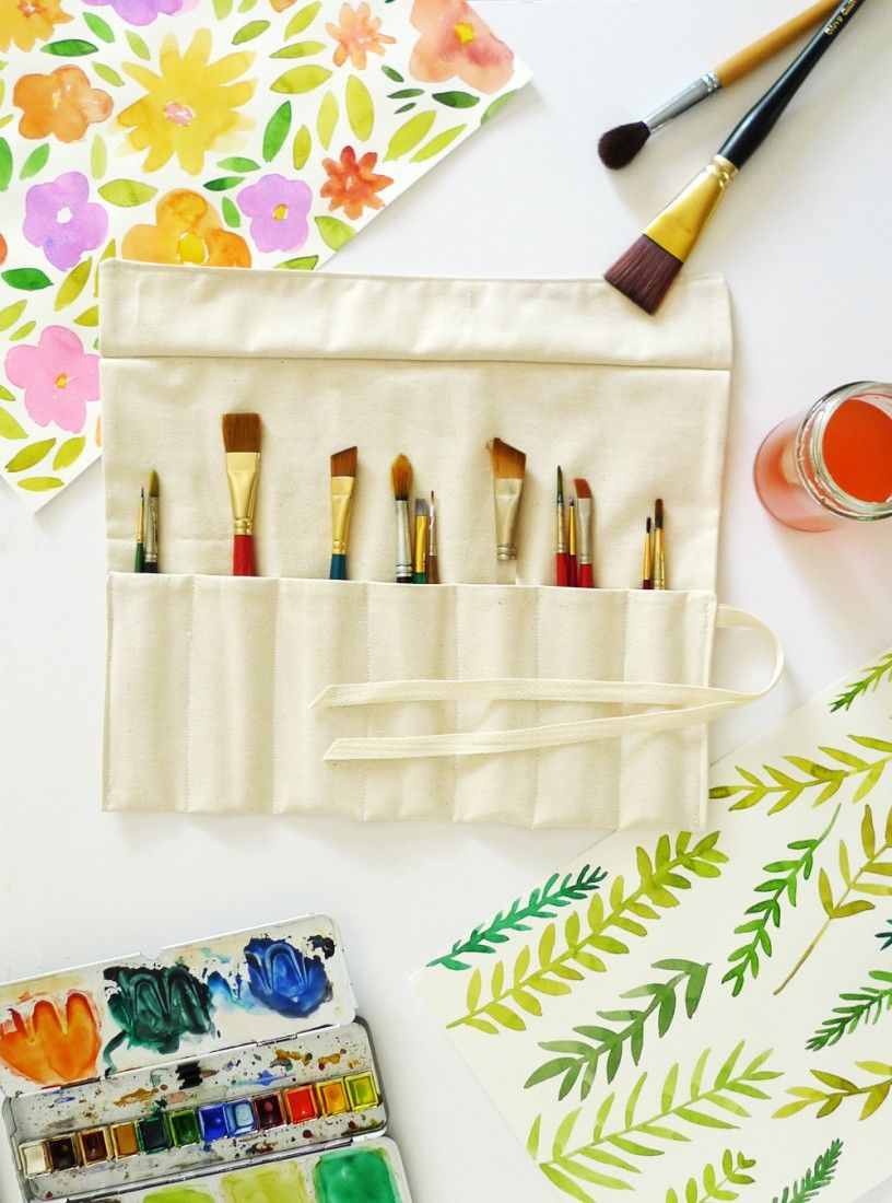 DIY Handy Art Supply Roll Up - Made With Organic Twill Fabric From Organic Cotton Plus