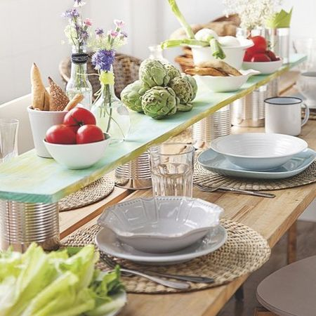 While A Lazy Susan Turntable Is Perfect For Square Or Circular Dining Table You Can Add Simple Topper To Make Height And