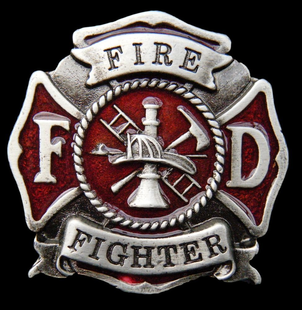 cool fireman firefighter fd crest belt buckle belts boucle