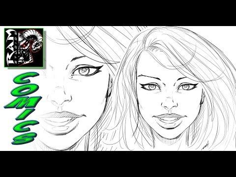 How To Draw Comics Style Female Faces Narrated Comic Drawing Comic Book Style Comic Styles