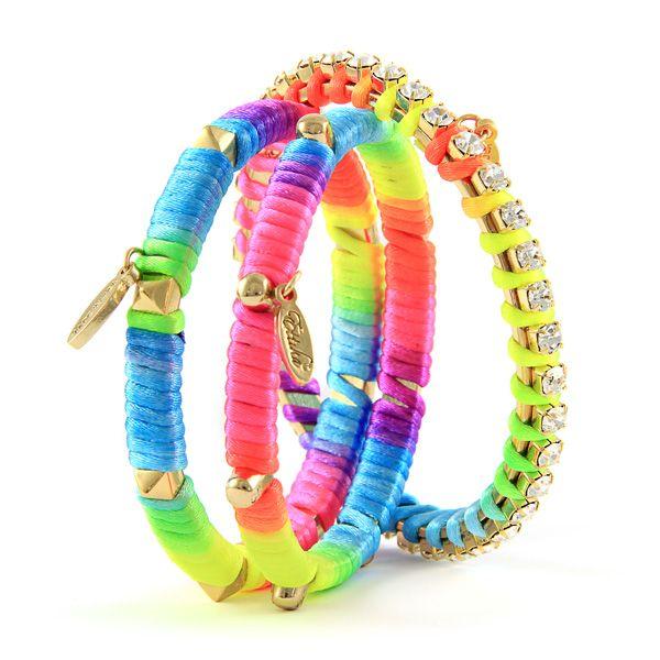 Glow Graffiti Stack #neon #bright #color  #ettika #jewelry #accessories #spring  #boho
