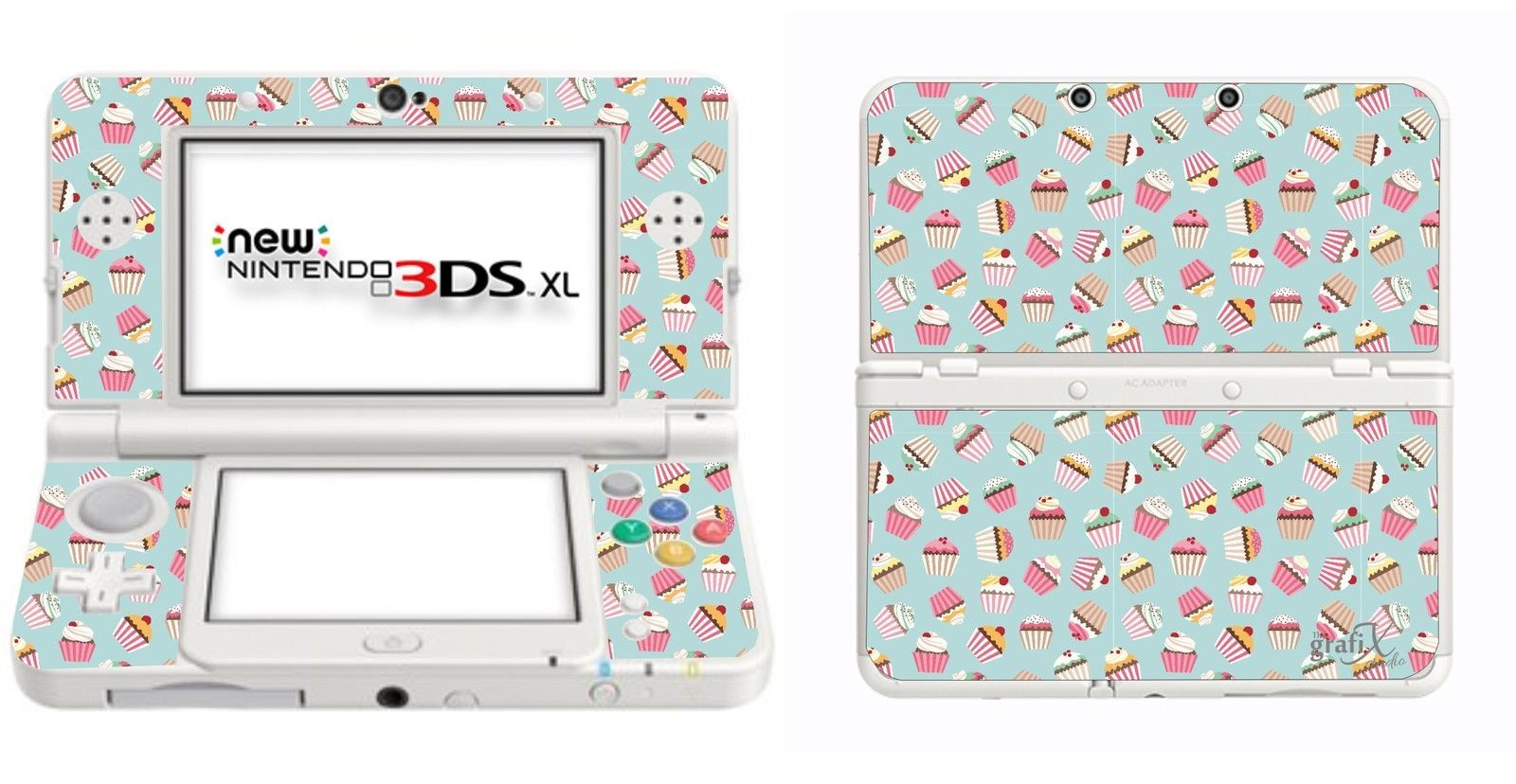 299 Gbp Cupcakes Vinyl Skin Sticker For Nintendo 3ds Xl With C