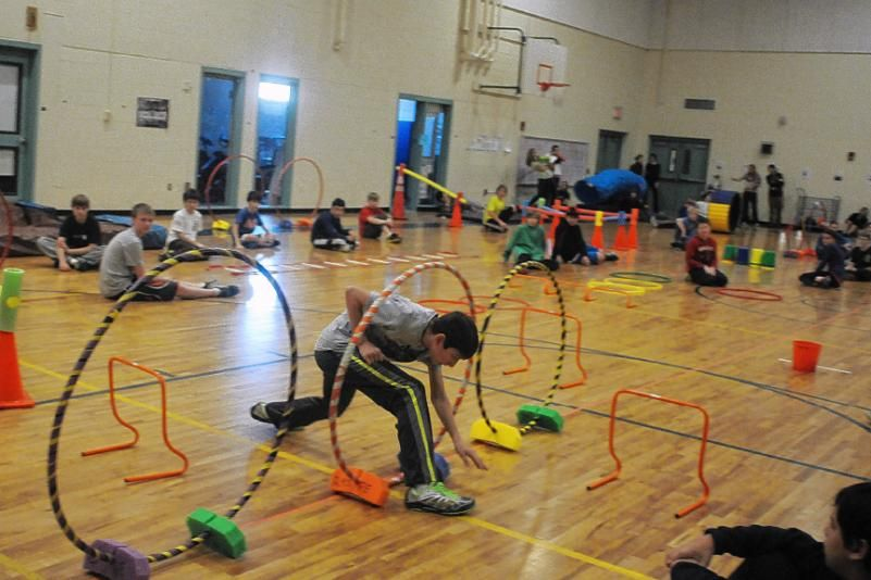 obstacle course ideas | Championship competition in the obstacle course elective class at ... (lunch time activity)