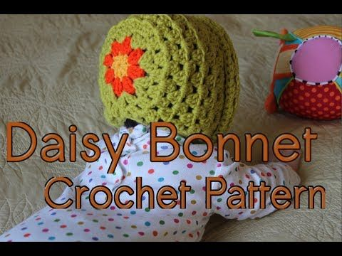 Katie Cooks and Crafts: Daisy Bonnet Crochet Pattern   Häkeln ...