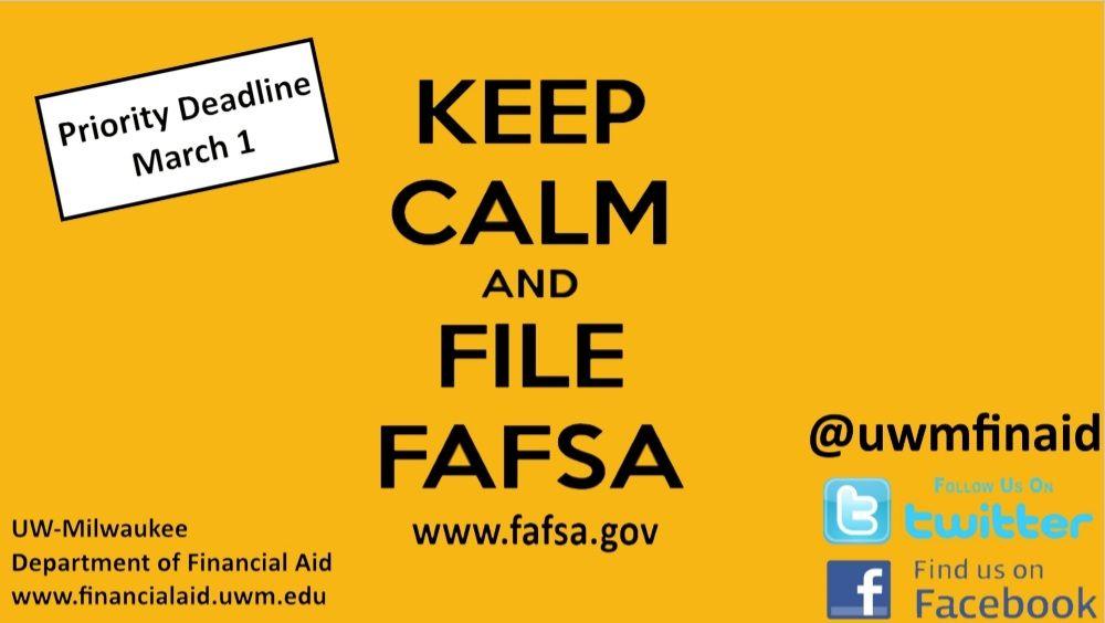 Uwm Financial Aid >> Financial Aid Fafsa Spring 2015 Display Lcd Monitor