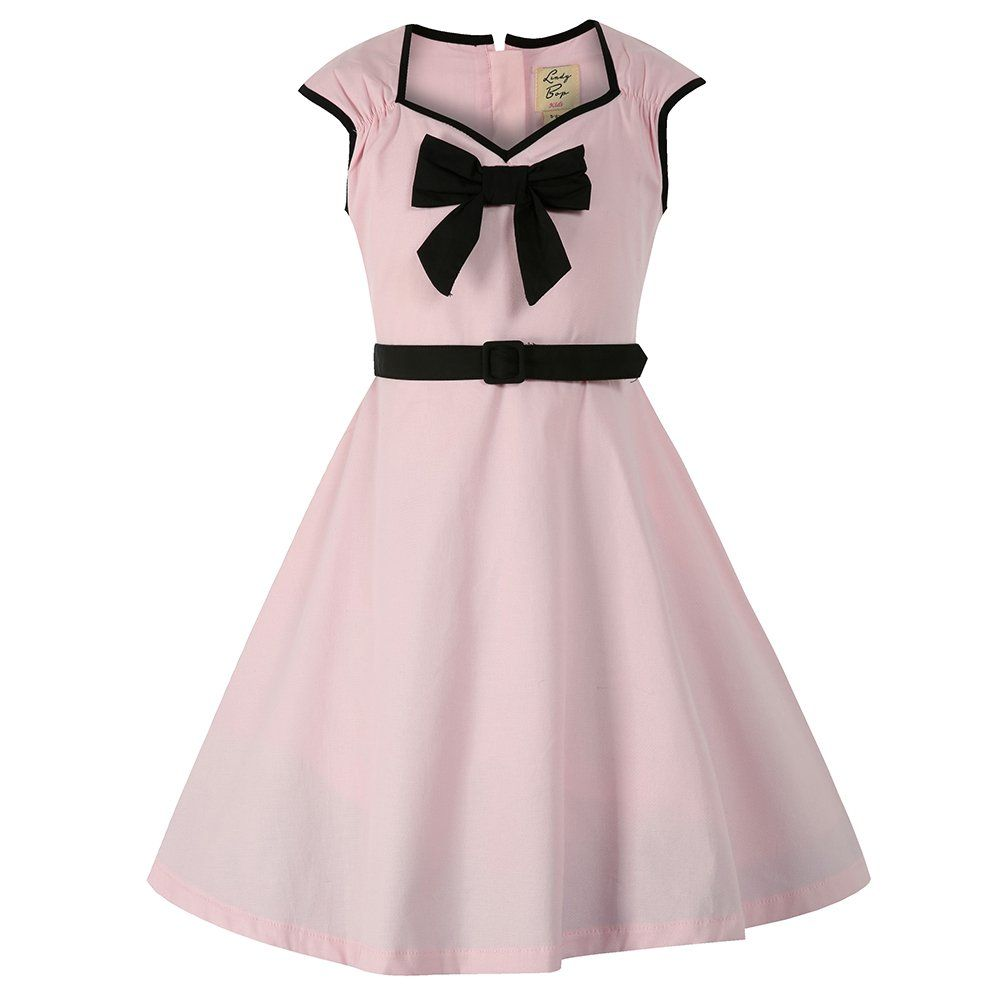 Mini Alanis Children\'s Pink Dress | Vintage Kids Dresses - Lindy Bop ...