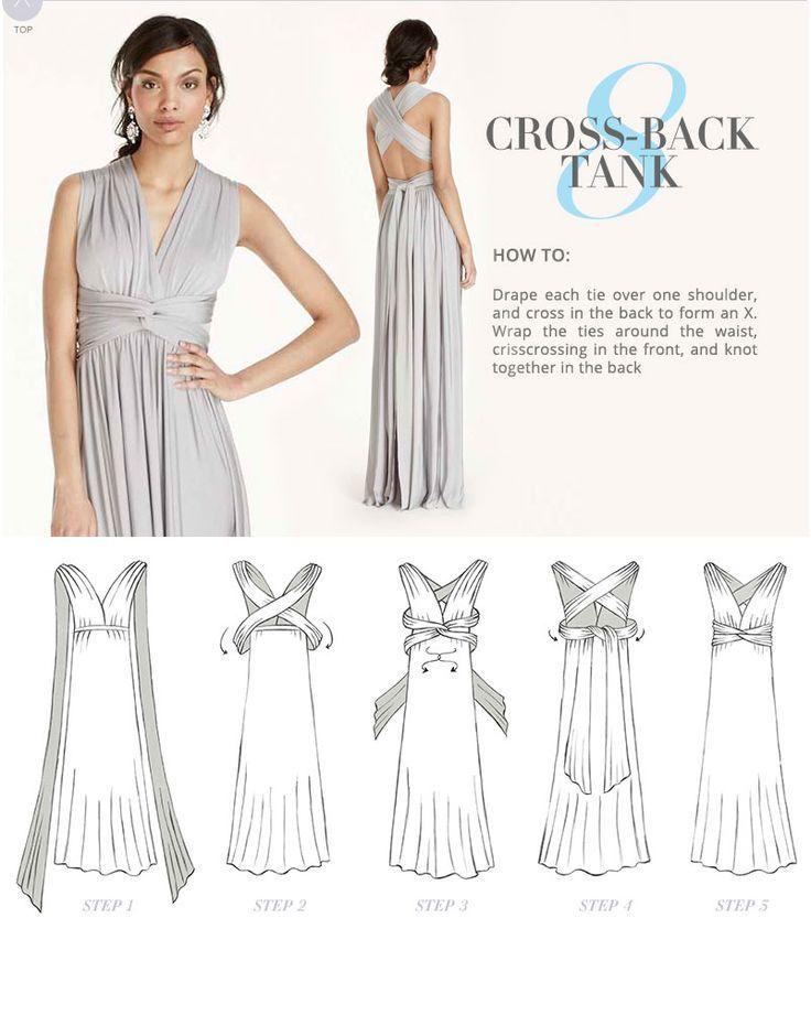 ea15650ee1 Versa Convertible Infinity Bridesmaid Dress In Lustrous Jersey Tutorial