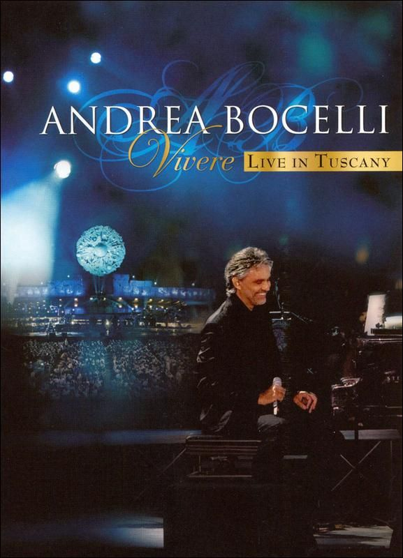 Andrea Bocelli: Vivere: Live In Tuscany DVD (With images ...