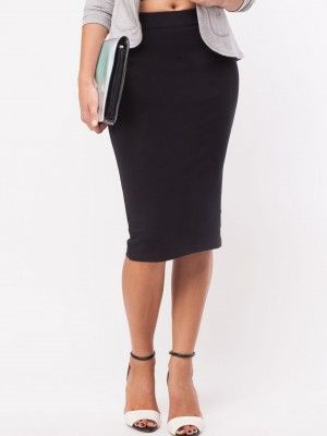 KOOVS Jersey Pencil Skirt purchase from koovs.com | skirts online ...