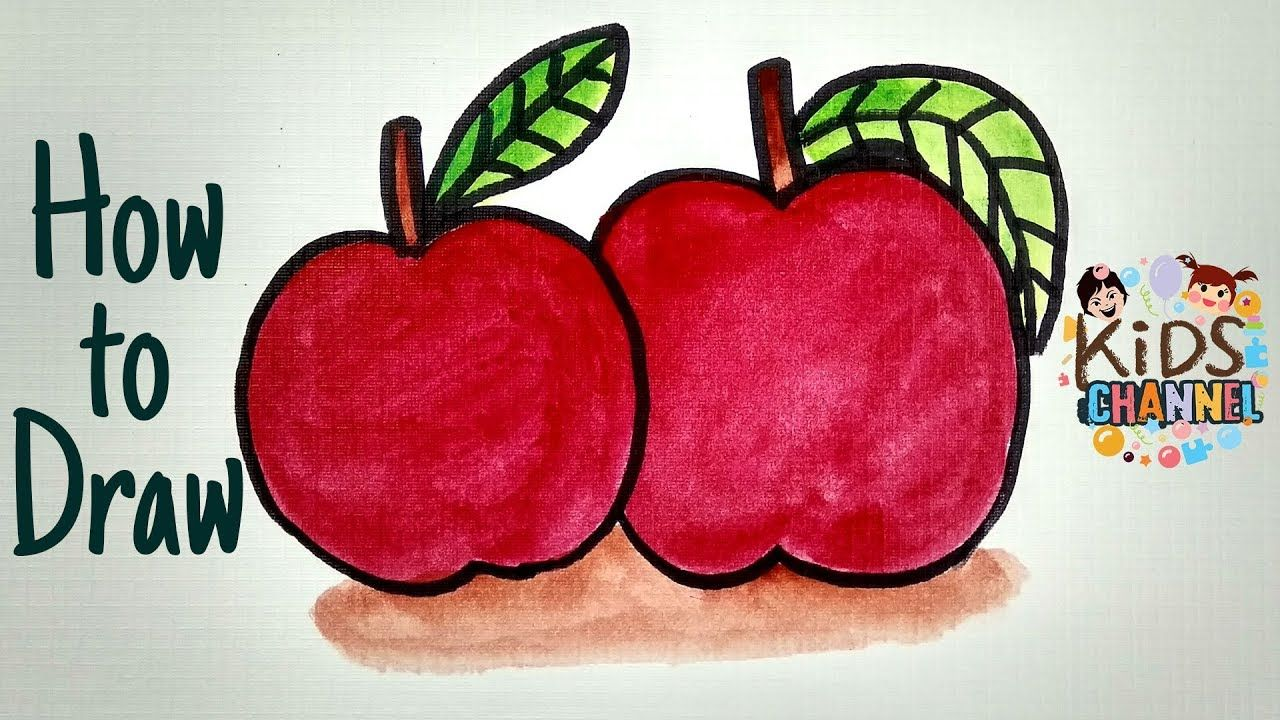 Pin By Kids Channel On Kids Channel Apple Coloring Pages Apple Coloring Apple Art