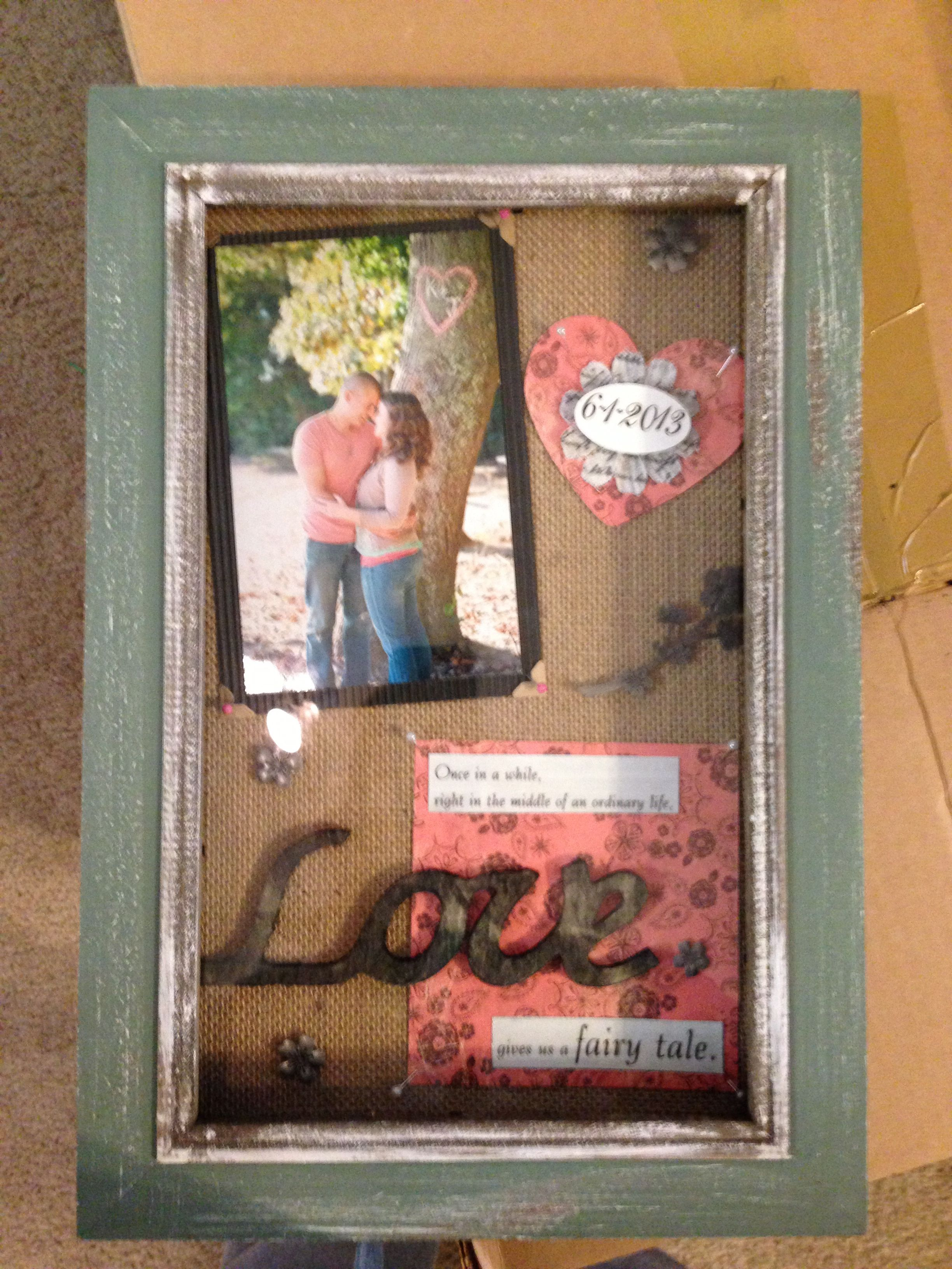 Shadow Box Wedding Gift Craft Projects Pinterest