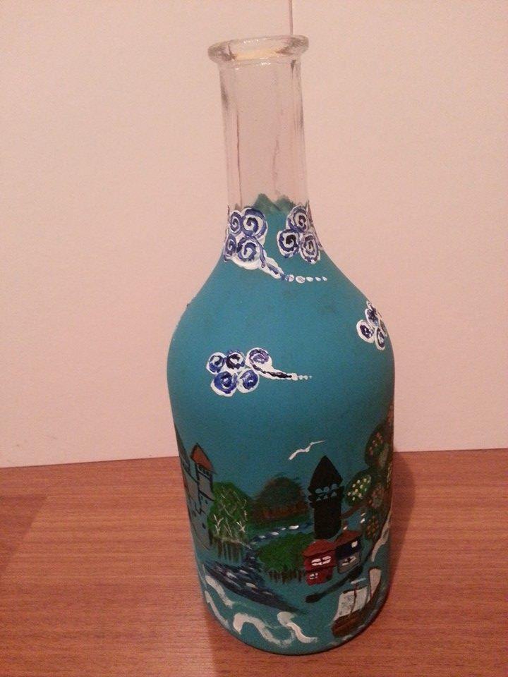 şişe Boyama Akrilik Boya Vefa Bozacısı şişe Boyama Pinterest