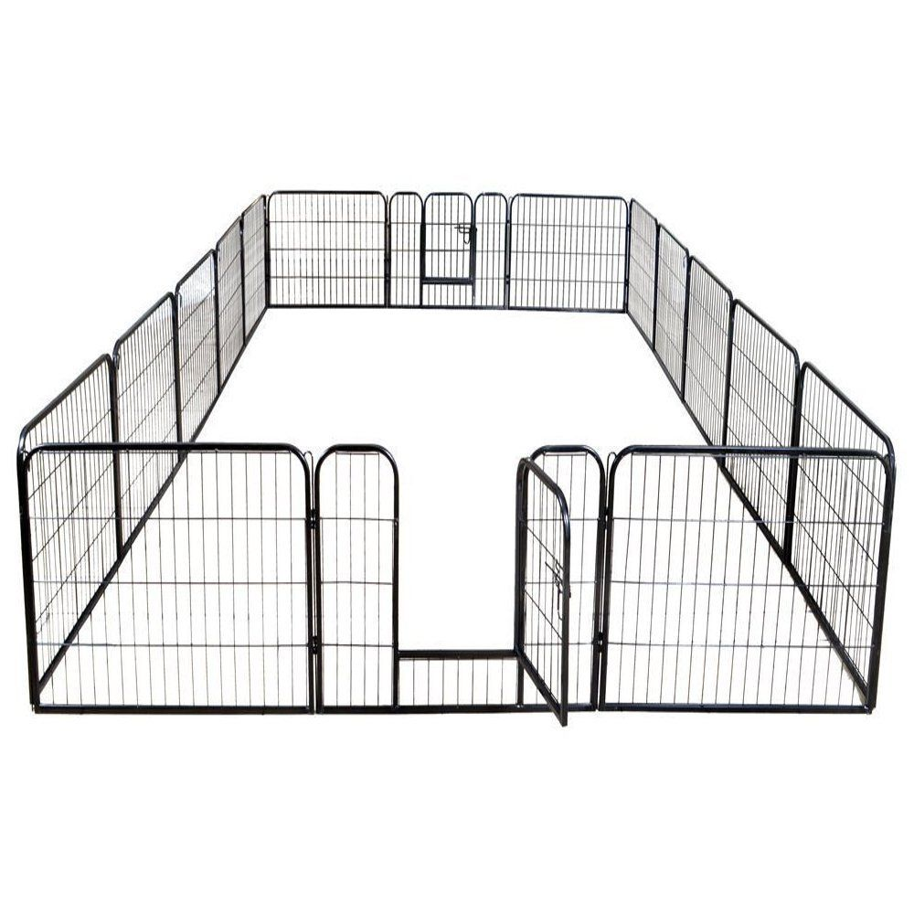 Petdanze Dog Pen Metal Fence Gate Portable Outdoor Heavy Duty Outside Pet Large Playpen Exercise Rv Play Yard Indoor Pu In 2020 Dog Playpen Pet Playpens Dog Exercise