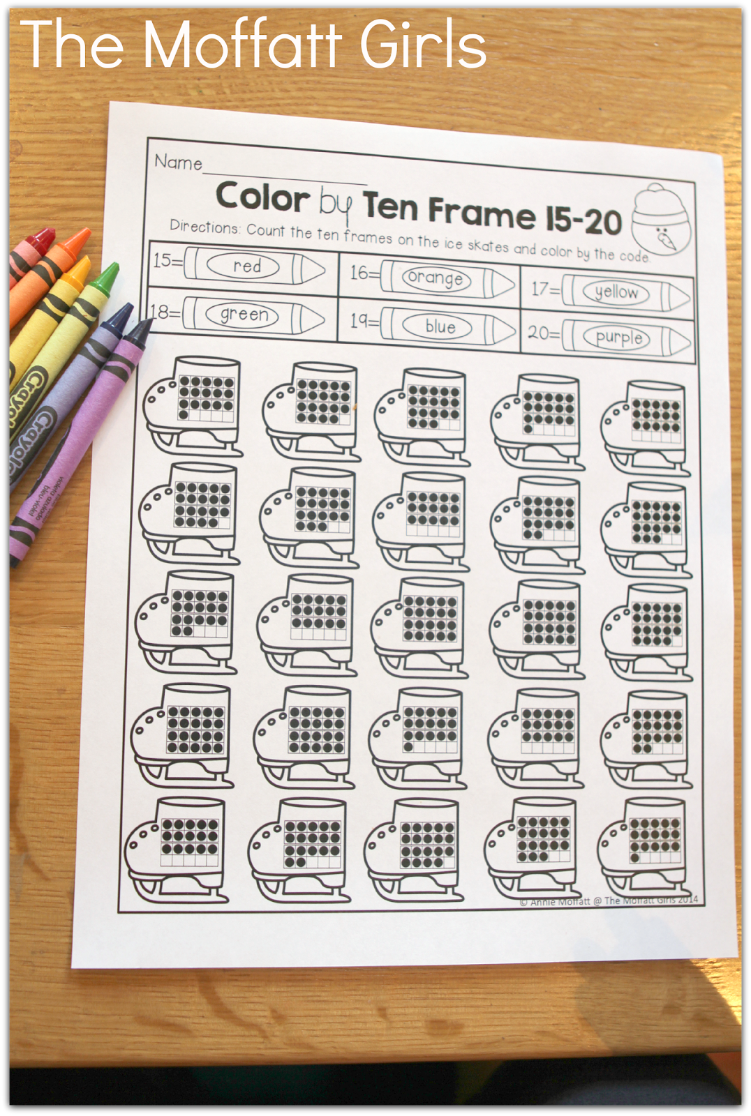 Color By Ten Frame Count And Color By The Code What A Fun Way To Work On Number Sense With Ten