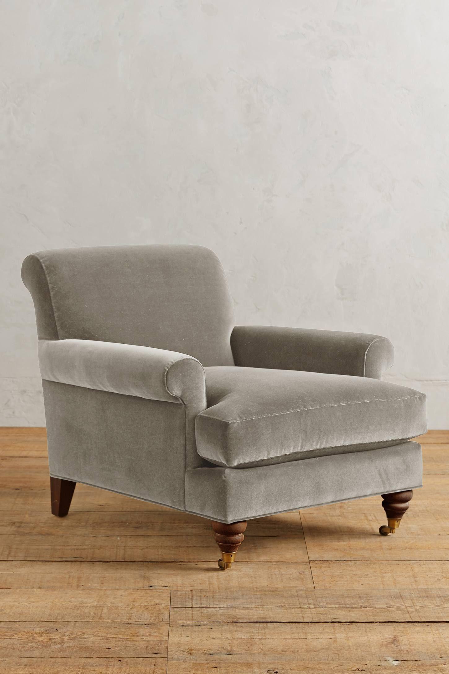 Velvet Willoughby Chair, Hickory Chair, Upholstered