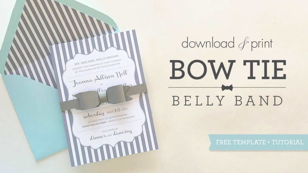 35 wedding invitation belly band template belly band
