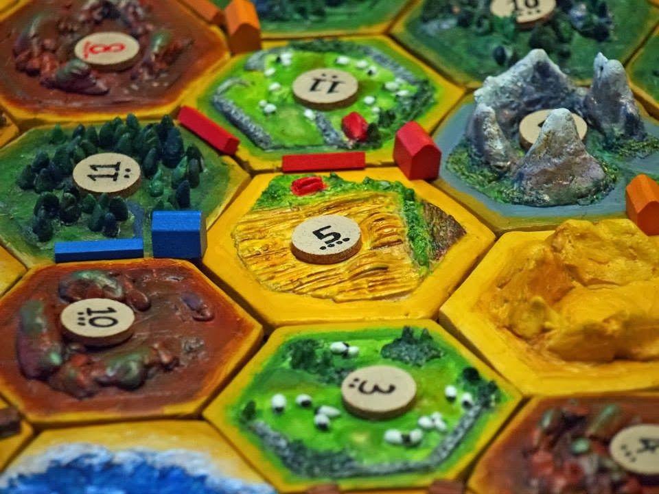 DIY 3D Settlers of Catan game board. Urbane Jane