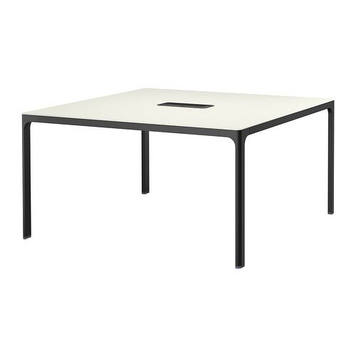 bekant conference table white black 140x140 cm salles de r union r unions et salle. Black Bedroom Furniture Sets. Home Design Ideas