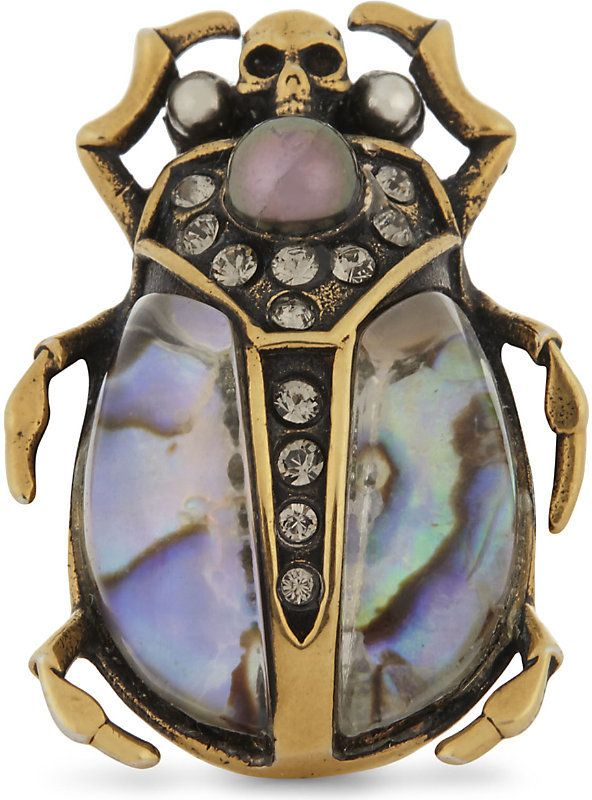 71268255e alexander mcqueen Beetle ring | Animal, Reptile, and Insect Inspired ...