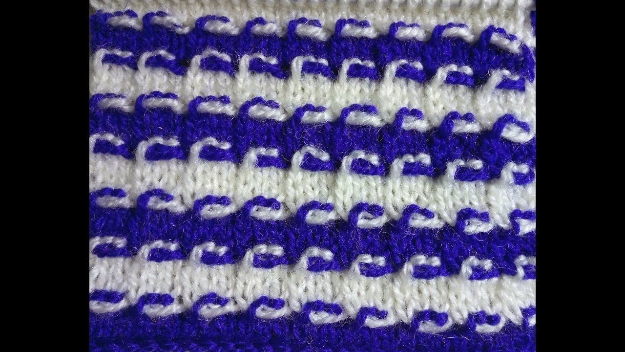 Easy Two Color Knitting Pattern No.58|Hindi | video8 | Pinterest ...