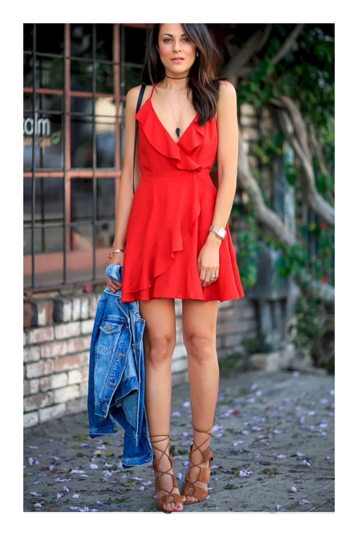 Cómo Usar Tu Vestido Rojo In 2019 Outfits Dresses Fashion