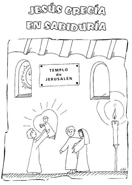 Imagen de Simeón y Jesús para colorear ~ RECURSOS PARA LA ESCUELA ...