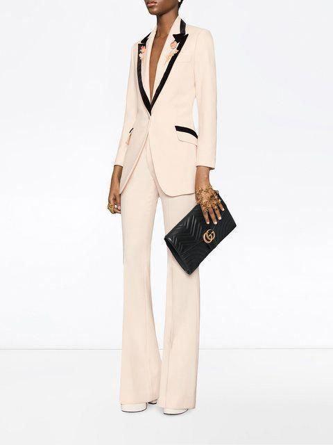61a3de65fcb851 Gucci Black GG Marmont clutch bag #Guccihandbags | Gucci handbags ...