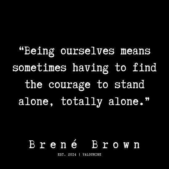 59 |191021 | Brene  Brown Quotes| Black Poster by QuotesGalore