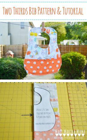 Two Thirds Baby Bib \u2013 Mary Martha Mama- How to make a baby bib using