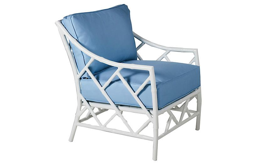 Terrific Kit Lounge Chair Blue White Sunbrella Products In 2019 Dailytribune Chair Design For Home Dailytribuneorg