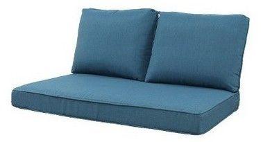Groovy Grand Basket Rolston 3Pc Outdoor Loveseat Cushions Blue In Creativecarmelina Interior Chair Design Creativecarmelinacom