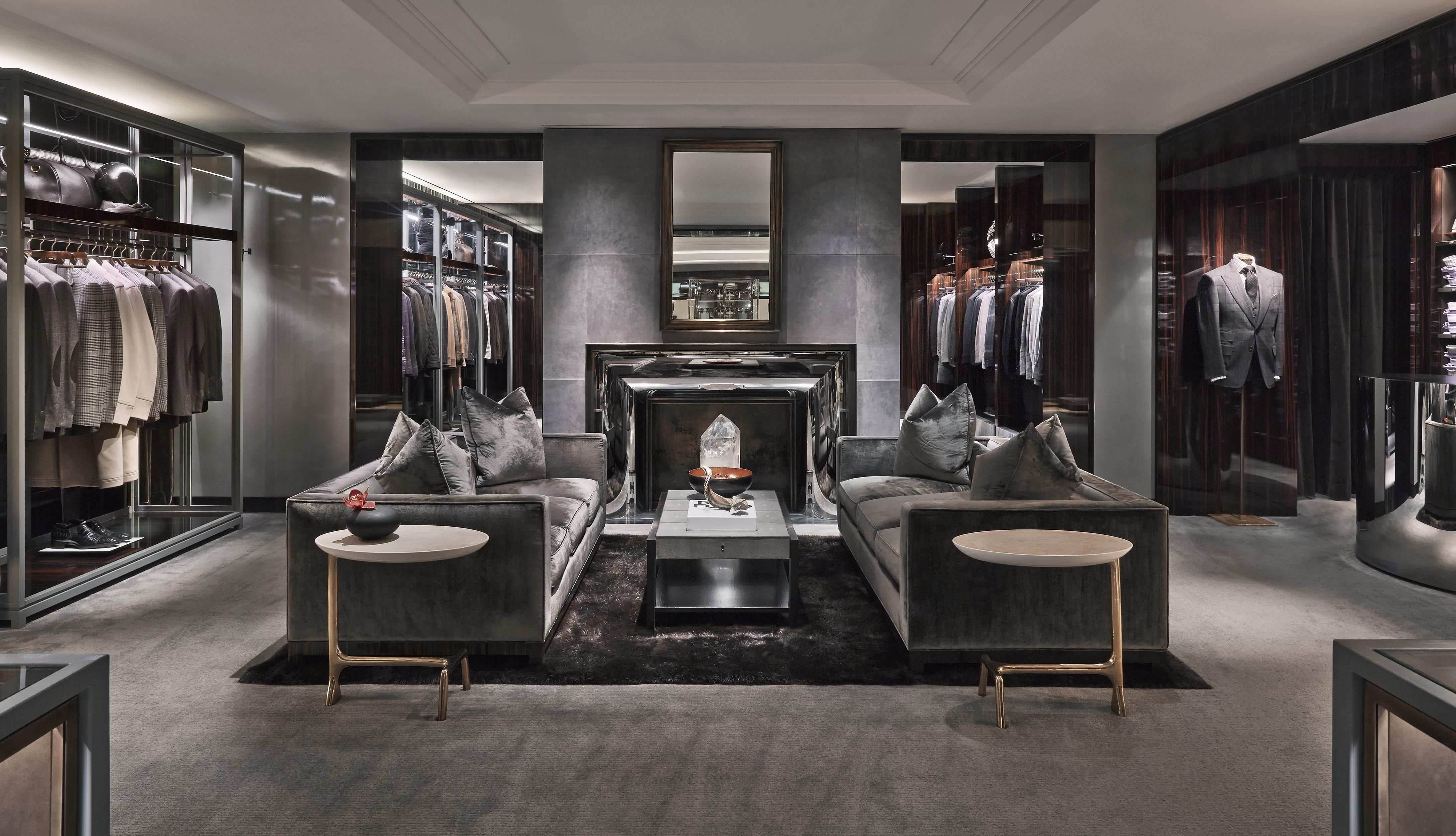 Sexy Grey Closet With Plush Grey Carpeting Masculine Look