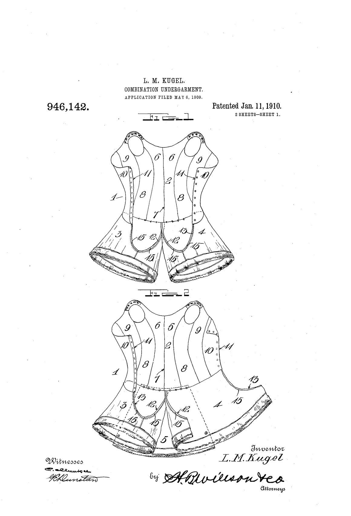 Combination Undergarment (1910) | Seeing Patterns | Pinterest