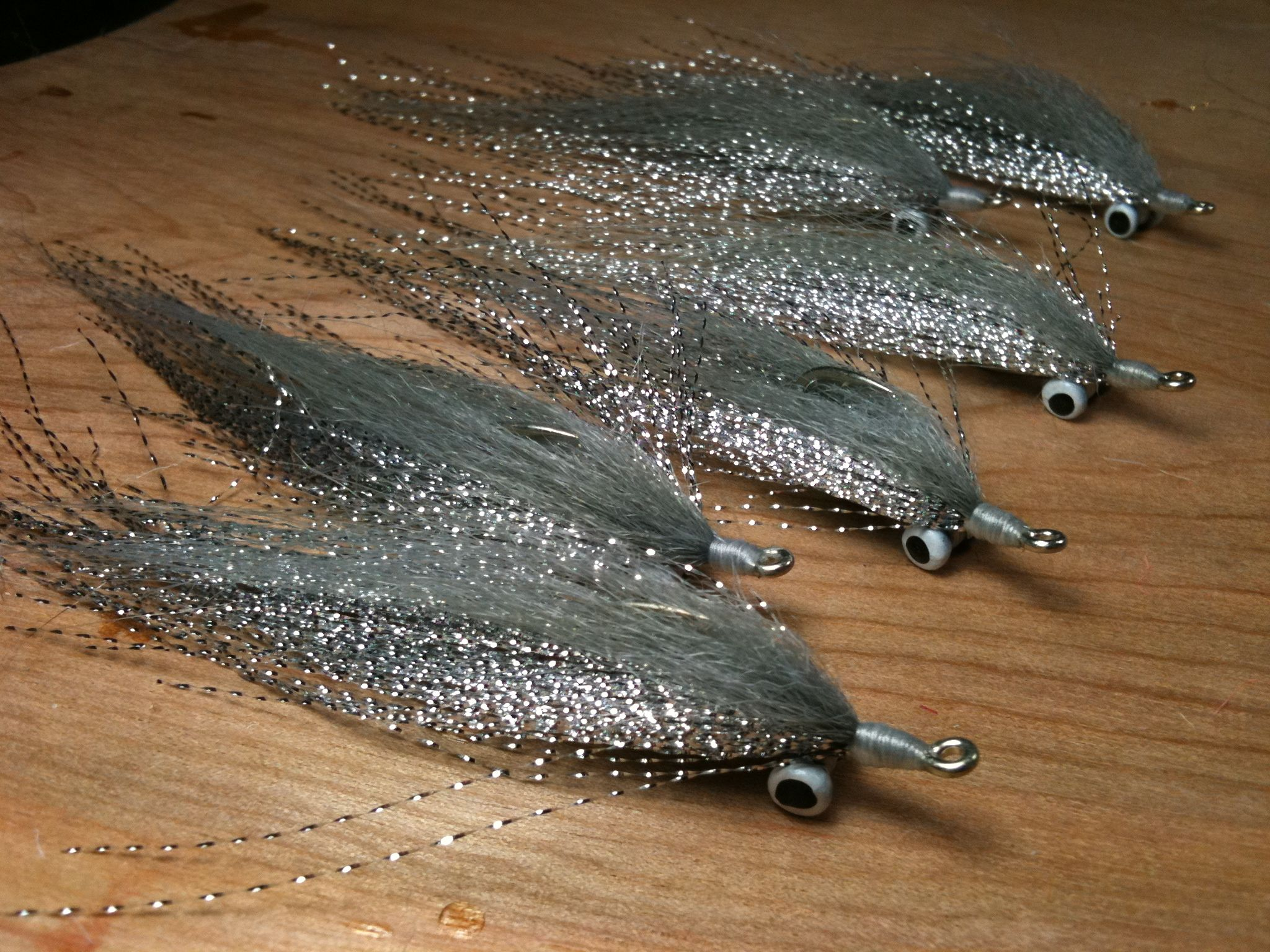 Chrome clousers tails and scales pinterest chrome for Fly fishing bait