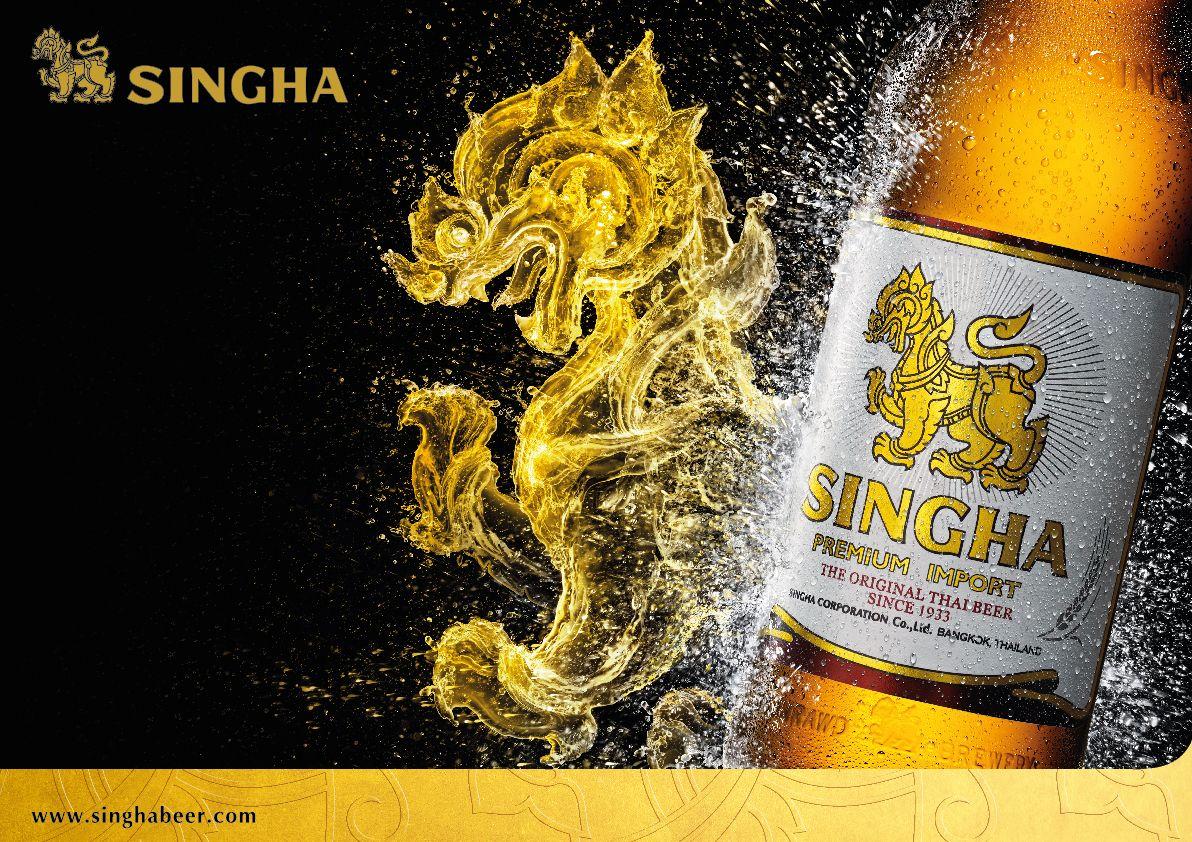 SIngha beer Original thai beer Sinnce 1933 Print thematic 2015 ...