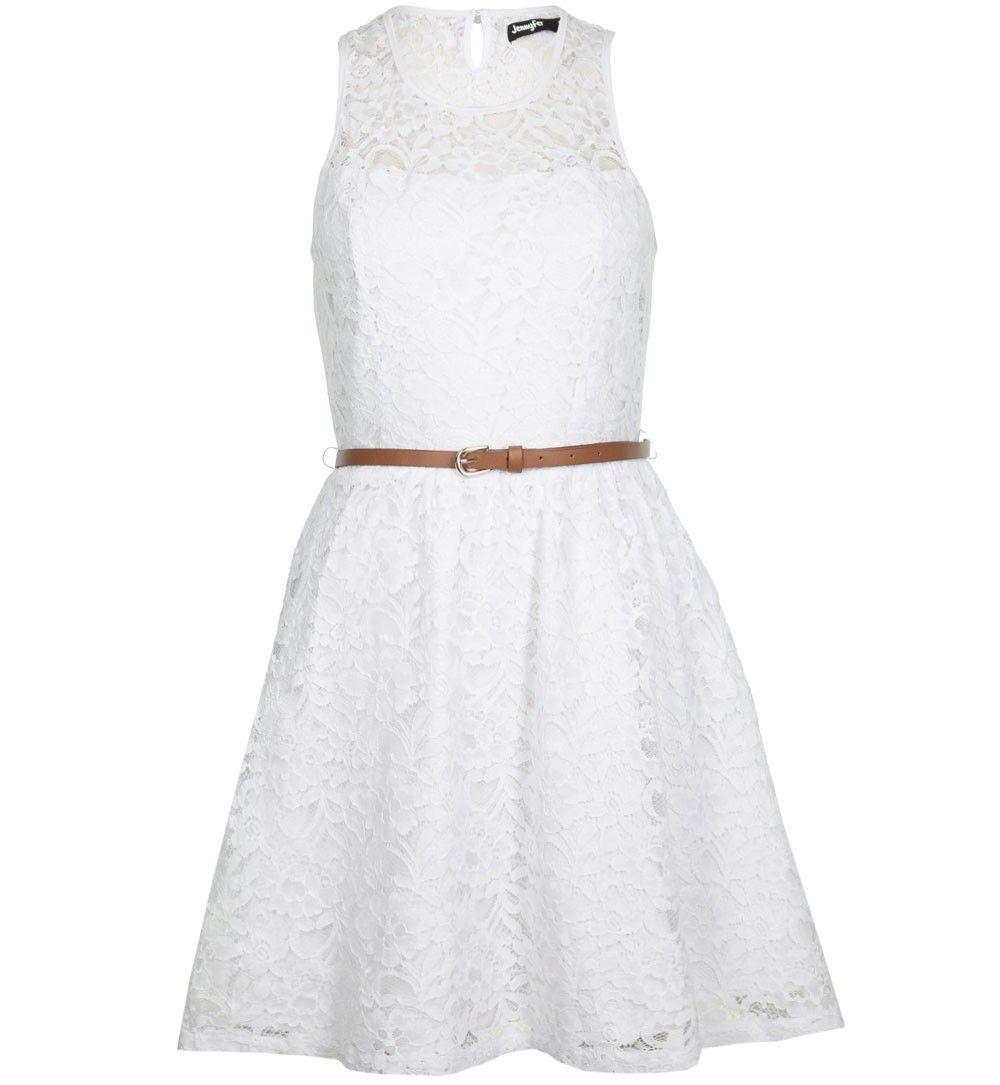 robe dentelle blanche - robes Jennyfer | Robe dentelle, Robe blanche dentelle, Jennyfer vetements