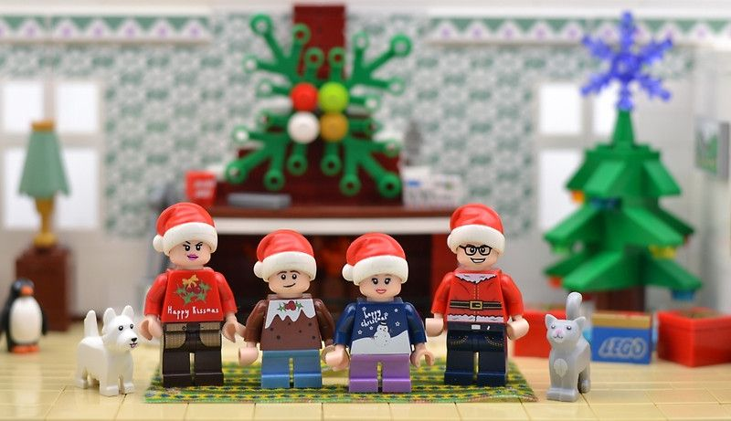Merry Christmas From Us All By Minifignick In 2020 Christmas Cards Lego Christmas Merry Christmas