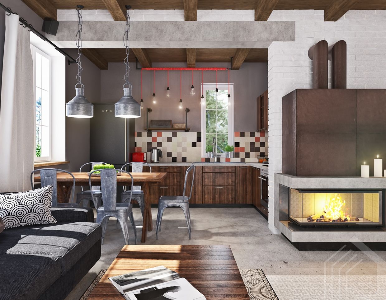 Studio Apartment Design With Industrial Decor Looks So Minimalist